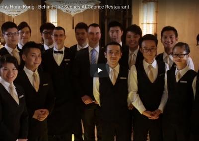 Internships, Caprice restaurant, Four Seasons Hotel Hong Kong