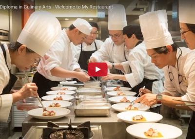 """""""My Restaurant"""": Intermediate level ICDE students hosting guests"""