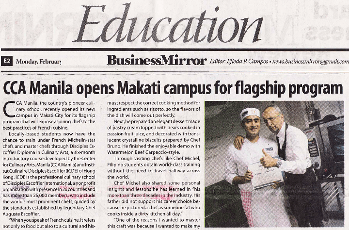 CCA Manila opens Makati campus for flagship program